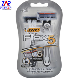 تیغ اصلاح بیک پنج تیغه flex blister