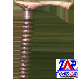 عصا چوبی مدل توپی